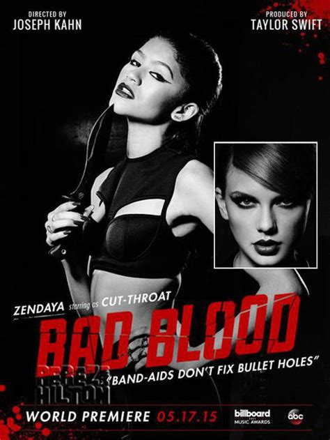 membuat poster bad blood zendaya fab in fausto puglisi at billboard music awards