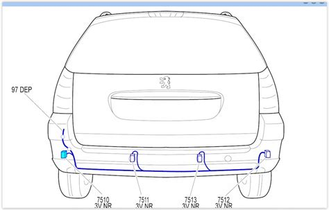 wiring diagram request for parking sensors peugeot forums