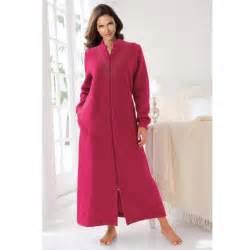 robe de chambre polaire femme zippee