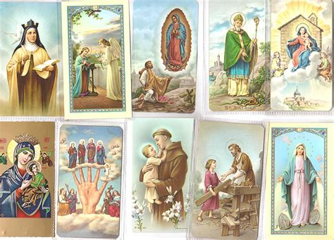 free catholic holy cards catholic prayer cards buy 18 collectible vintage holy cards prayer cards bookmarks
