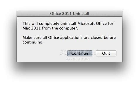 office 2011 uninstall tool mac