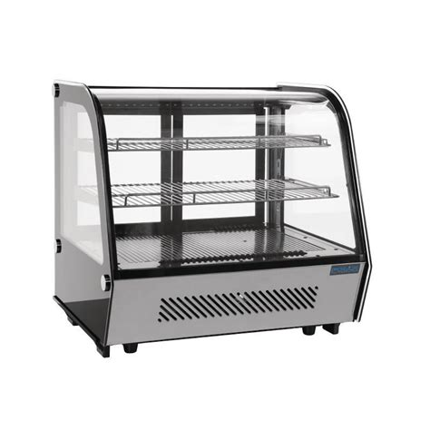 Countertop Display Chiller polar refrigerated countertop display chiller 160l curved