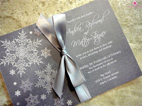 Winter Hochzeit Einladungen by Die Stilvolle Einladungen F 252 R Eine Winterhochzeit