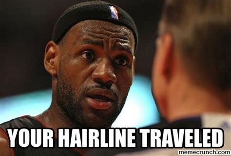 Lebron Hairline Meme - lebron hairline