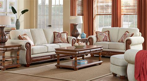 room to go living room sets cindy crawford home key west cove beige 7 pc living room