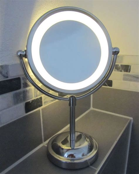light up cosmetic mirror 5 x magnifying led illuminated bathroom up