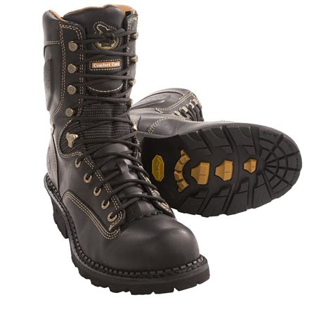comfortable work boots for men georgia boot gore tex 174 comfort core logger work boots