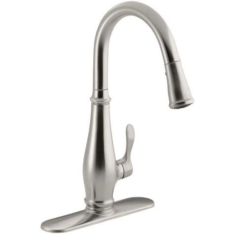 E Faucet by Kohler K 780 Vs Cruette Vibrant Stainless Steel Pullout