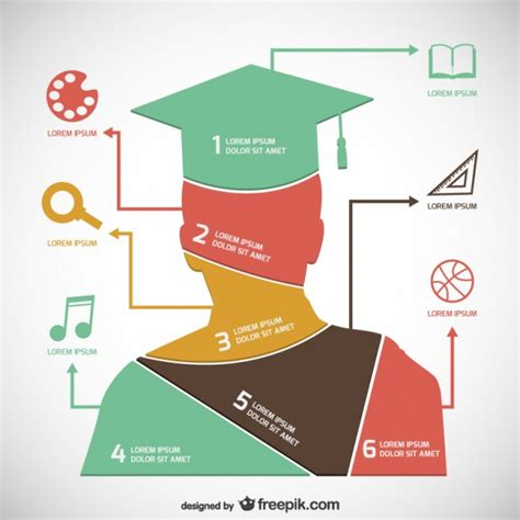 Academic Infographic Template Free Vector 123freevectors Free Graphic Templates