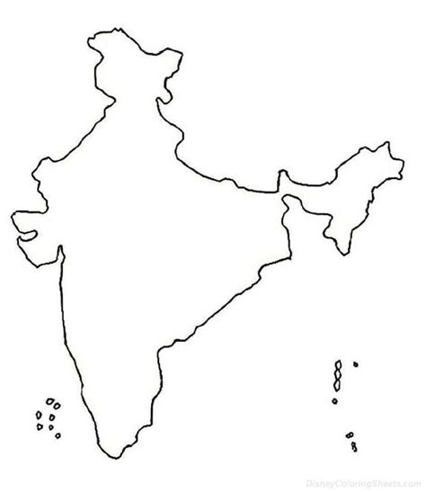 coloring pages of india map map of india for kids coloring home
