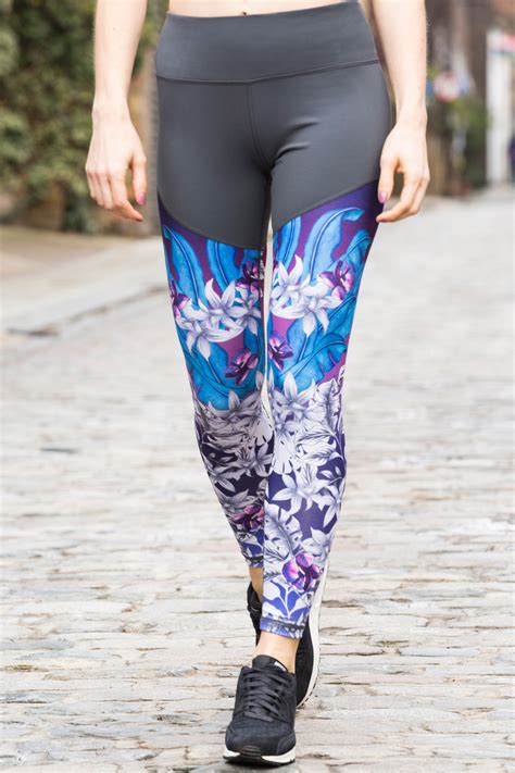 patterned workout leggings jungle patterned tight workout leggings niki p