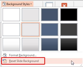 powerpoint themes greyed out custom backgrounds for slide master and layouts in