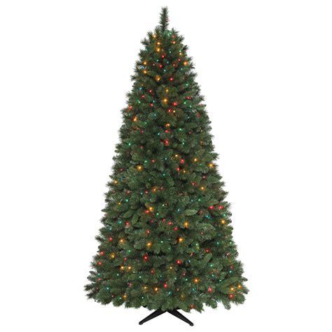 7 5 multicolored pre lit pine christmas tree easy setup