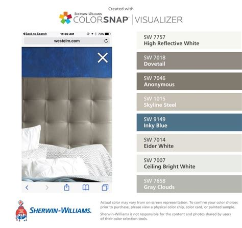 color scheme for inky blue sw 9149 64 best colors that catch my eye images on pinterest