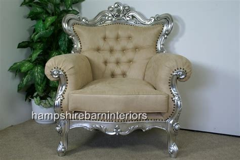 ornate bedroom chairs shaadi silver leaf ornate arm chair hshire barn interiors