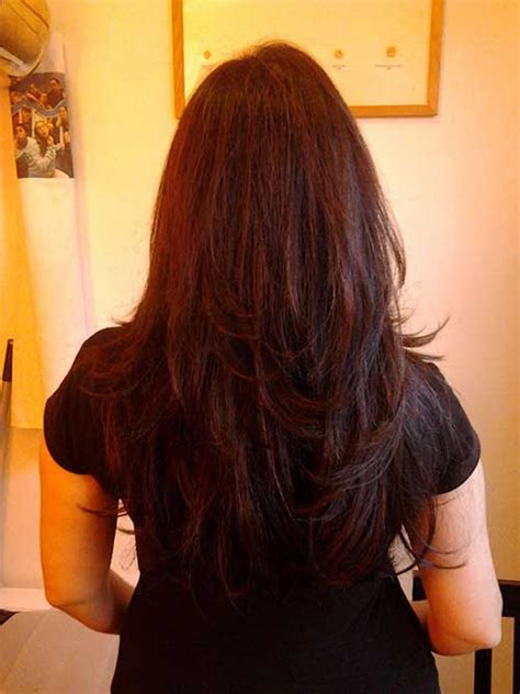 long layered hair front and back view 10 long layered hair back view hairstyles haircuts