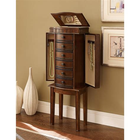 wooden mirror jewelry armoire jewelry armoire mirror standing chest cabinet box storage