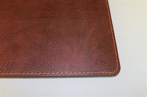 custom size desk mat brown leather desk pad hostgarcia