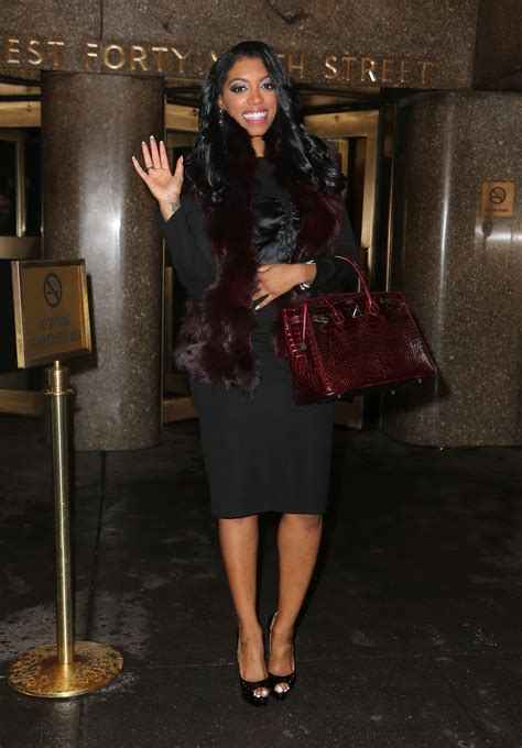 porshe willams on atl housewife handbag porsha williams style leaving the nbc studios in new
