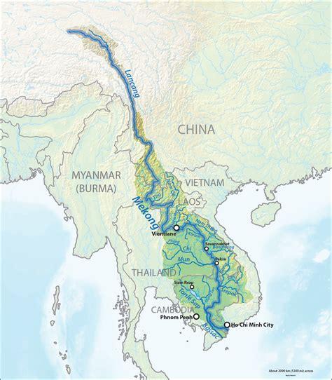 mekong river map mekong river map