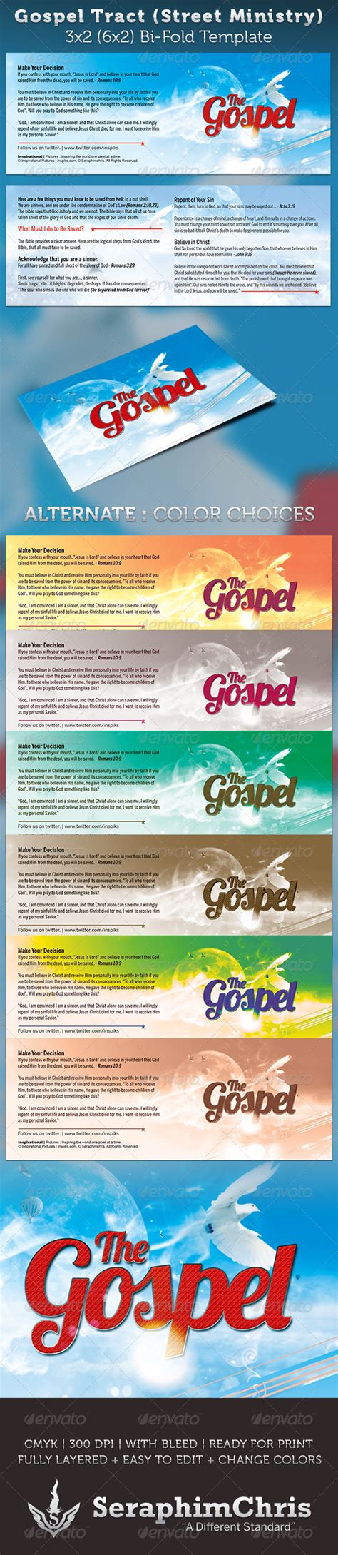 Church Tracts Templates Gospel Tract Bi Fold Template Flyer Template Print Templates And Marketing Flyers