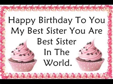 happy birthday quotes wishes  sister youtube