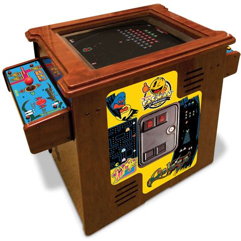 ms pacman cocktail table the authentic pac arcade cocktail table hammacher