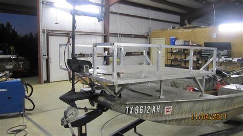 bowfishing boat specs 60 quot x 52 quot bowfishing deck