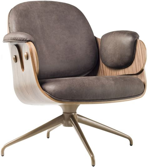 armchair swivel low lounger swivel armchair with wooden shell bd barcelona