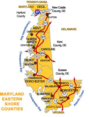 maryland eastern map farms and land on the eastern shore of maryland