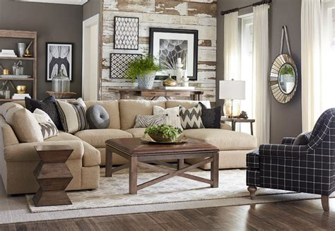 u shaped couch living room furniture sutton u shaped sectional by bassett furniture
