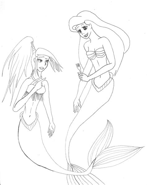 coloring pages of ariel and her sisters how about a