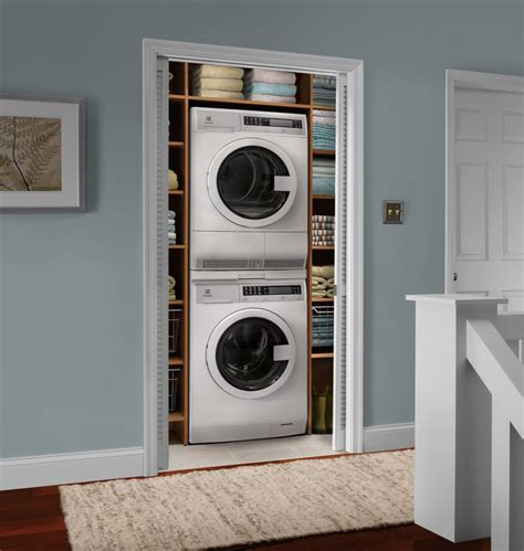 washer and dryer stackable electrolux eifls20qsw washer eied200qsw electric dryer set w stacking kit