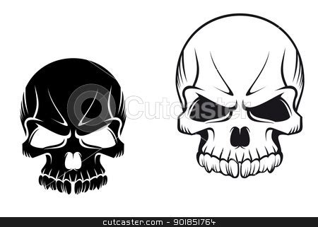 black and white skull tattoos skull images designs
