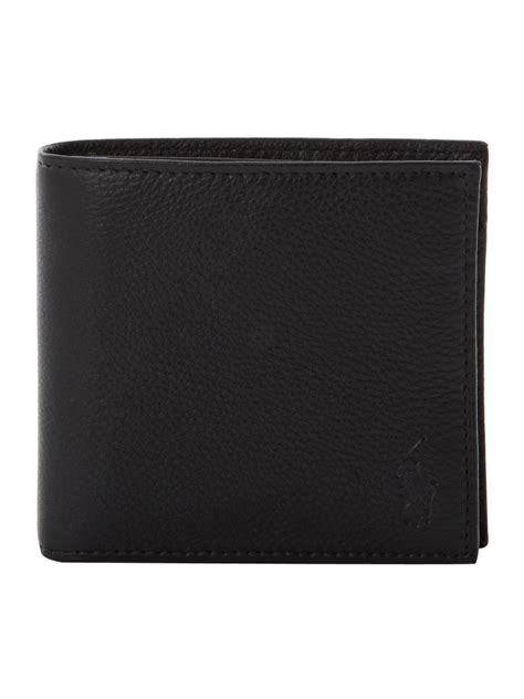 Polo Wallet For polo ralph wallet with coin holder in black for lyst