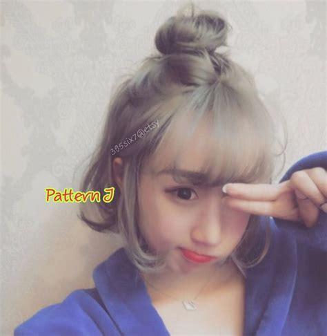 Wig Anak Made In Korea 6 sweetie korean top knot style wig look half knot bun causal wear kawaii hair