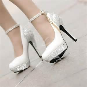 beautiful fashion high heels shoes white high heels