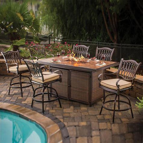 agio pit table agio balmoral bar height table 7 set firepits