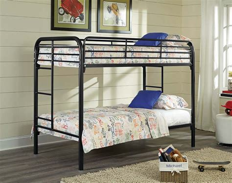 twin over twin bunk beds twin over twin black metal bunk bed for kids american