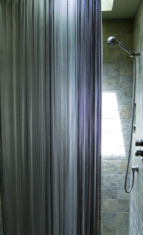 metal mesh curtains cascade coil metal mesh shower curtains are a great