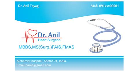 doctor card template business cards for doctors best business cards