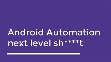 android automation magneto android test automation