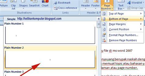 membuat nomor halaman yang berbeda di word 2007 cara mengatur nomor halaman dengan format berbeda dalam