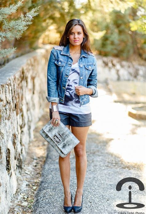 cute leather shorts outfits  ways  wear leather shorts