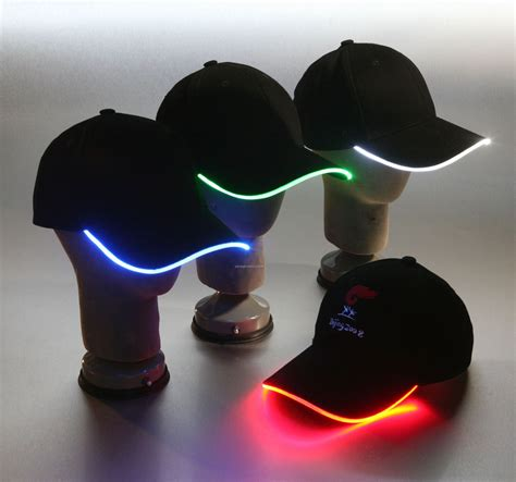 glo hat with light up brim blank china wholesale glo hat