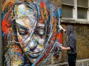 Street Art by Mind Blowing Street Art By Famous David Walker Female