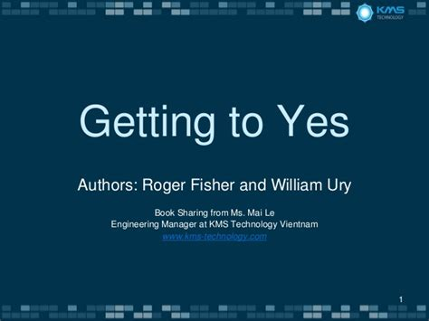 Getting To Yes book getting to yes
