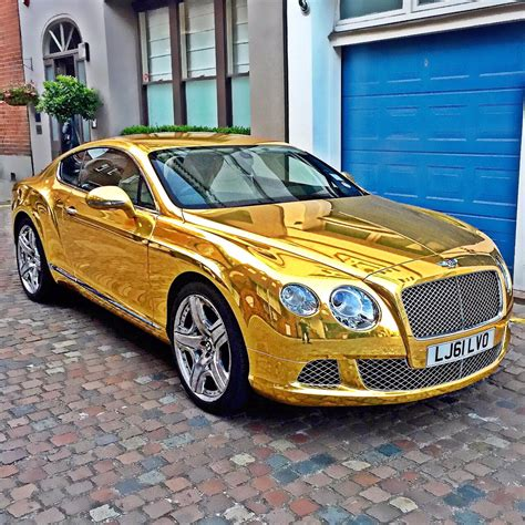 Bentley Gt Chrome Gold Wrap Car Wrap Chrome And Vehicle