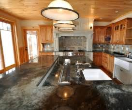 Two Level Kitchen Island Large Multi Level Island Farmhouse Kitchen Boston By The Home Beautiful