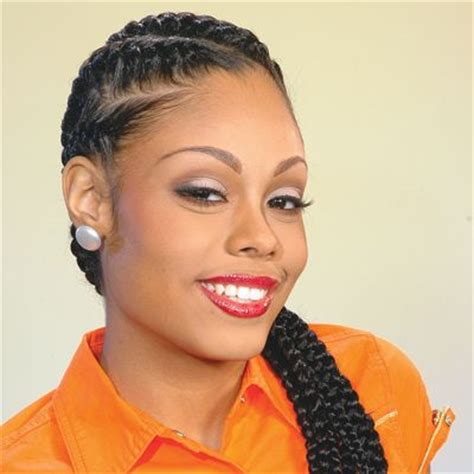 hairstyle with rolls overlaps and braids corn row braids french and i wish on pinterest